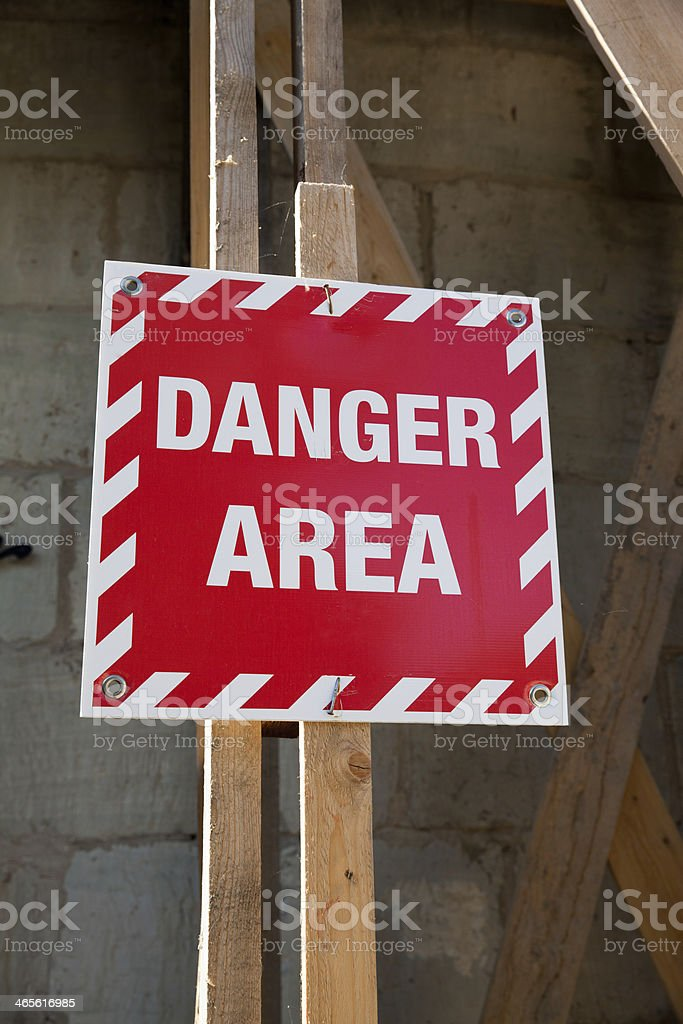 Danger area royalty-free stock photo