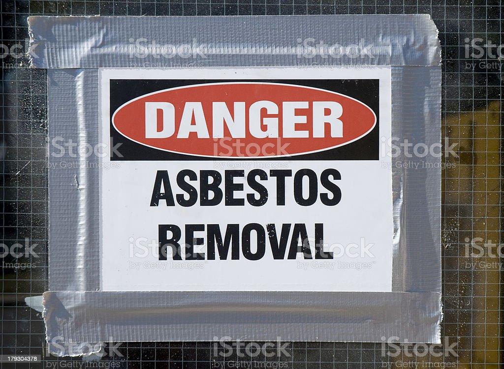 Danger Asbestos Removal stock photo