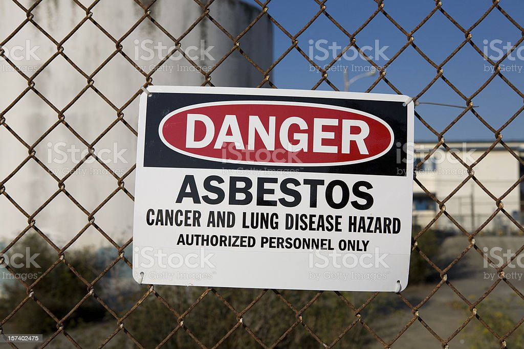 Danger Asbestos Warning Sign royalty-free stock photo