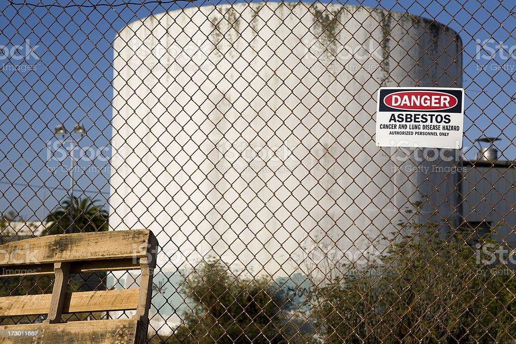 Danger Asbestos Warning Sign royalty-free stock photo