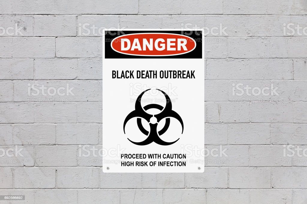 Danger - Black death outbreak stock photo