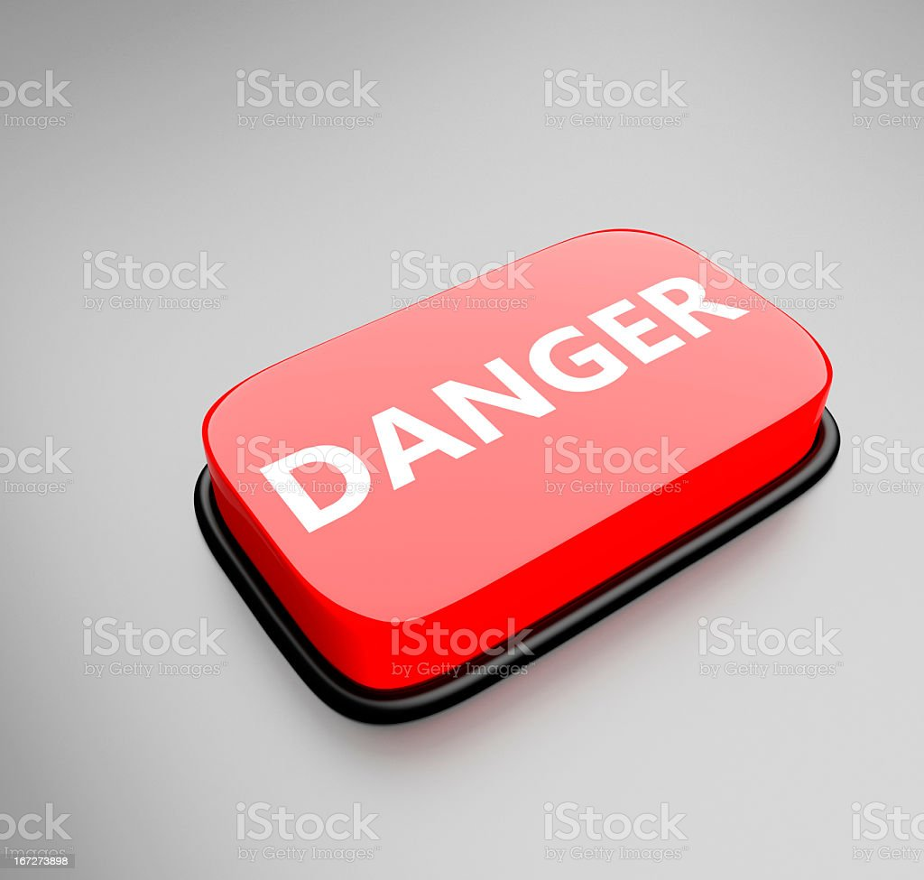 Danger Button royalty-free stock photo