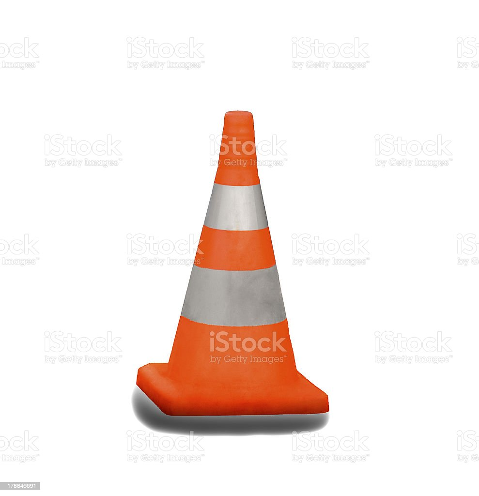 Danger cone royalty-free stock photo