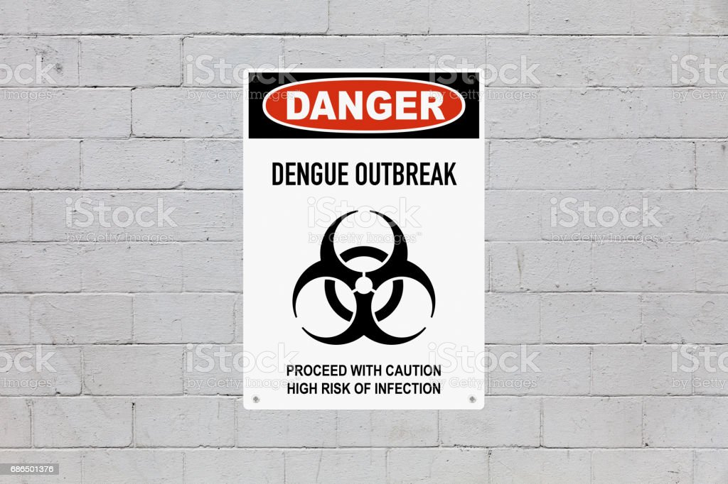 Danger - Dengue outbreak stock photo