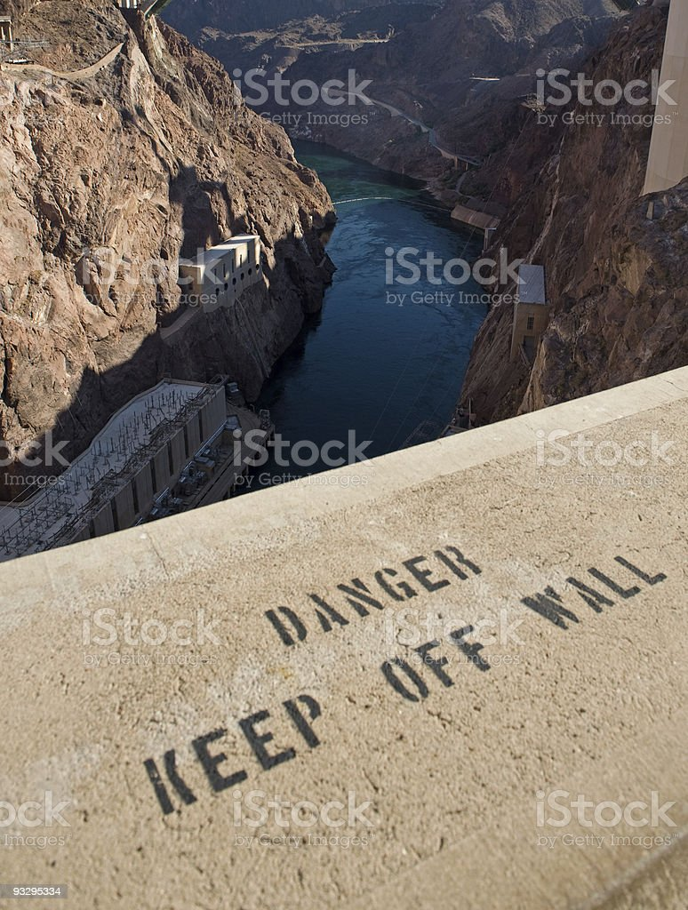 Danger - don't fall down royalty-free stock photo