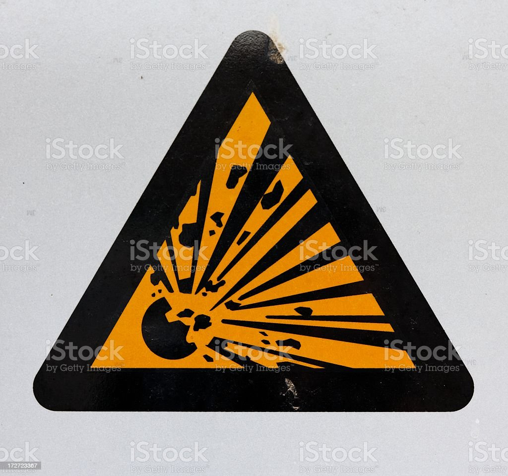 Danger Explosive sign royalty-free stock photo
