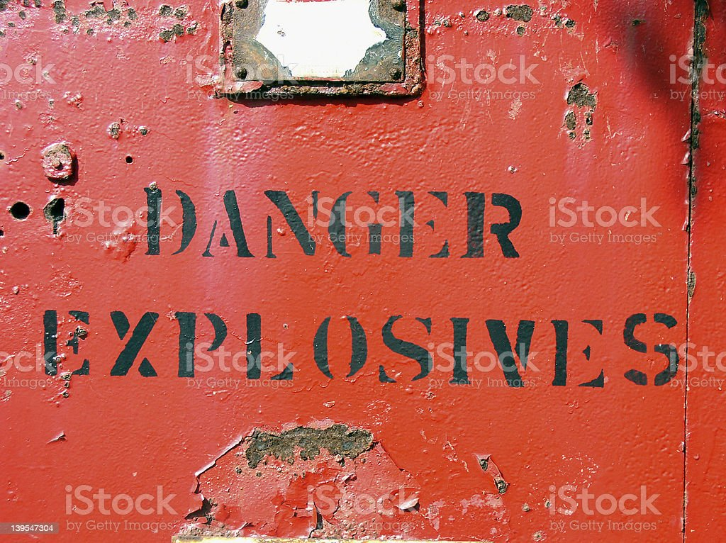 Danger - Explosives stock photo