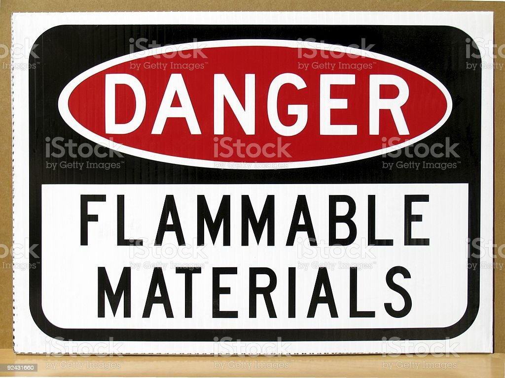 Danger - Flammable Materials royalty-free stock photo