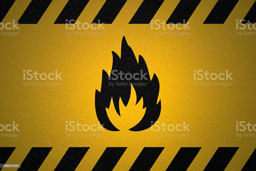 Danger Flammable Sign stock photo