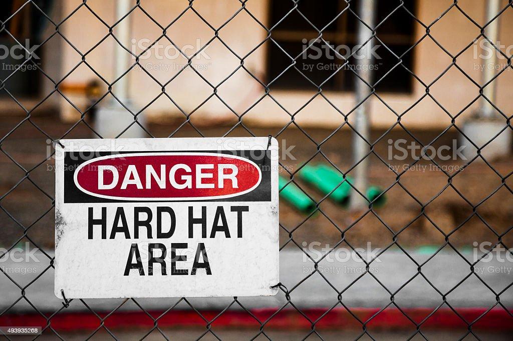 Danger Hard Hat Area stock photo