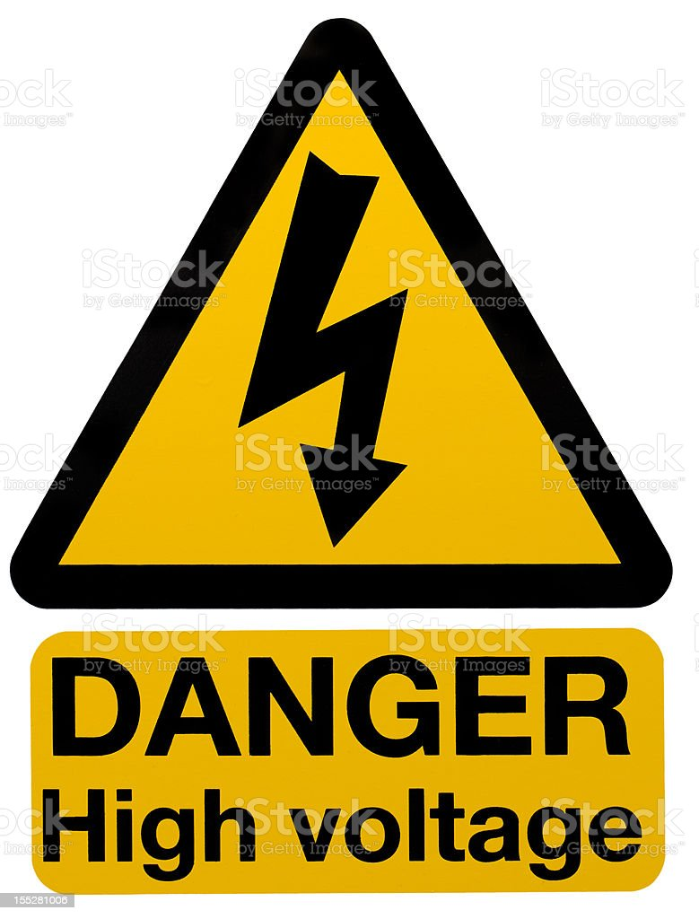 Danger - High Voltage stock photo