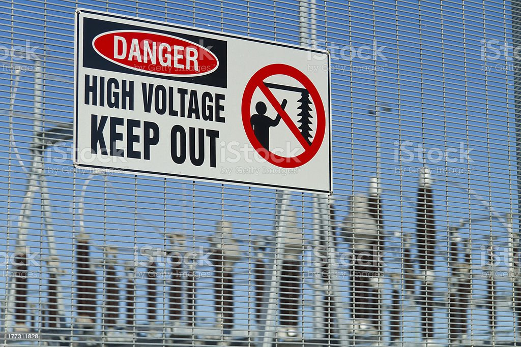 Danger High Voltage stock photo