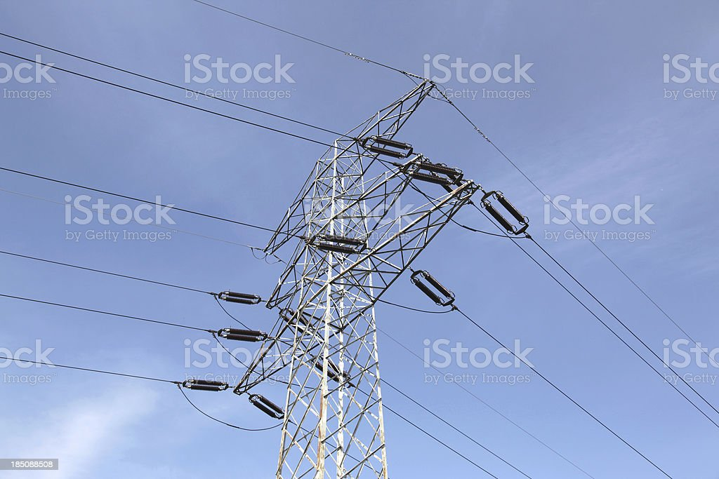 Danger: high voltage stock photo