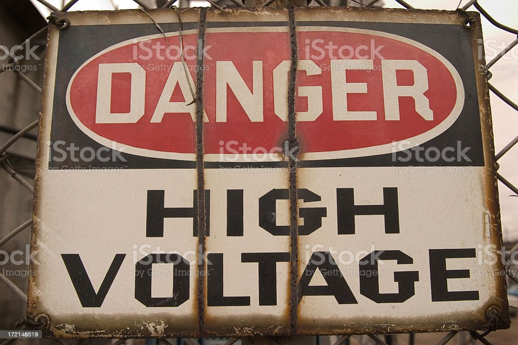 Danger High Voltage Sign royalty-free stock photo