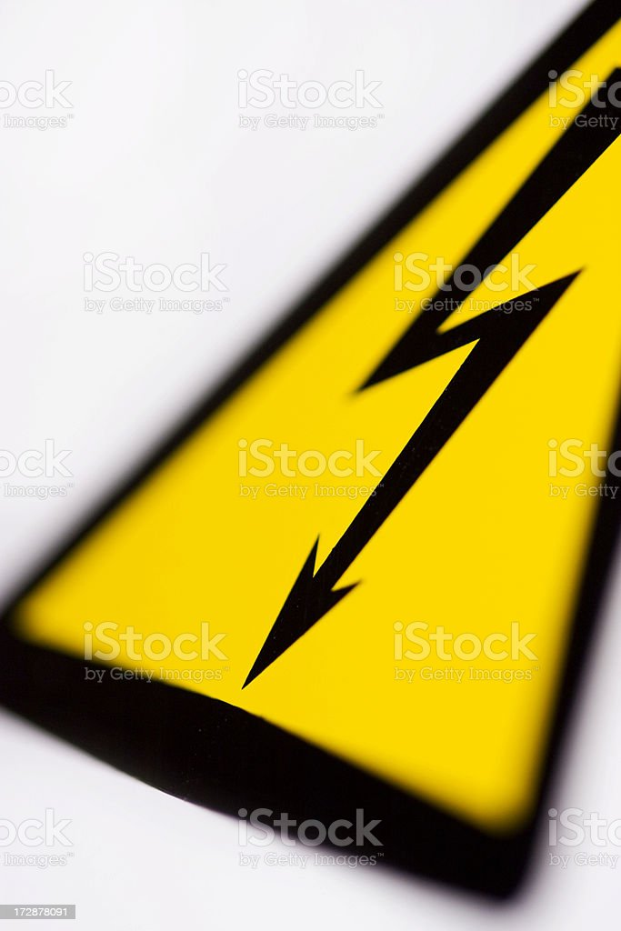 Danger - High voltage sign royalty-free stock photo