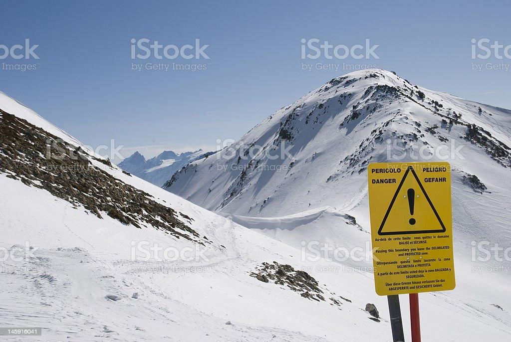 Danger in mountain royalty-free stock photo