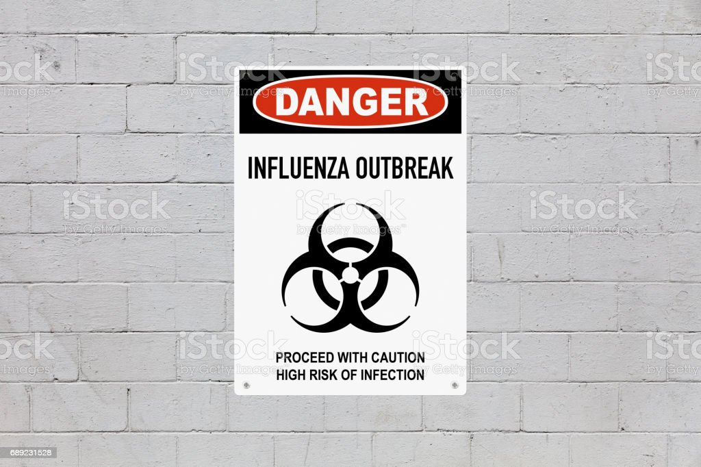 Danger - Influenza outbreak stock photo