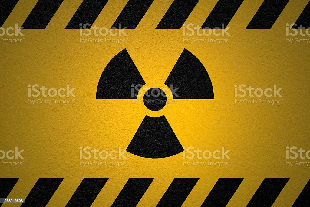 Danger Ionizing Radiation Sign stock photo
