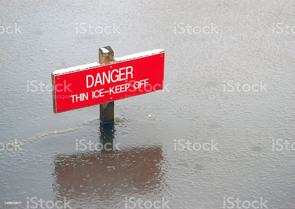 Danger Keep Off royalty-free stock photo