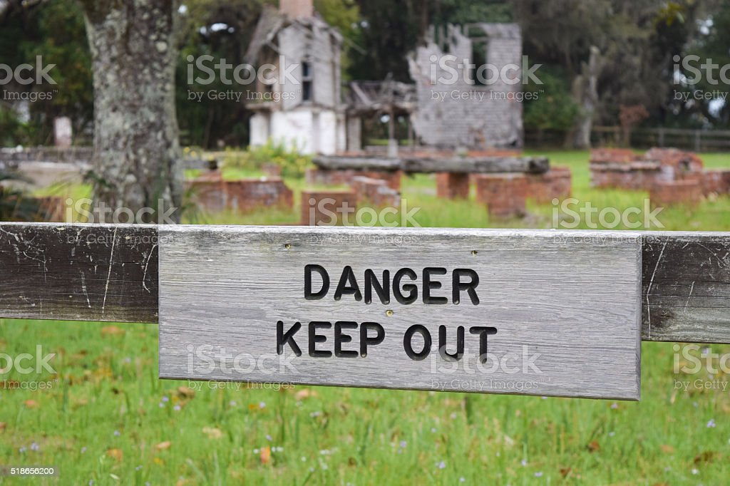 Danger - Keep Out stock photo