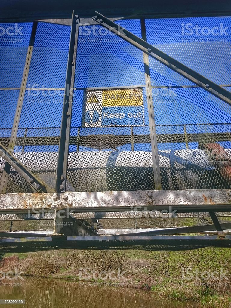 Danger Keep Out Sign stock photo