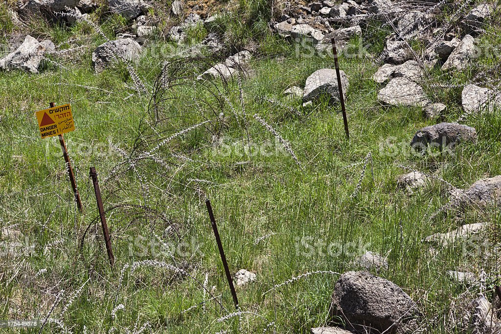 Danger Land Mines stock photo