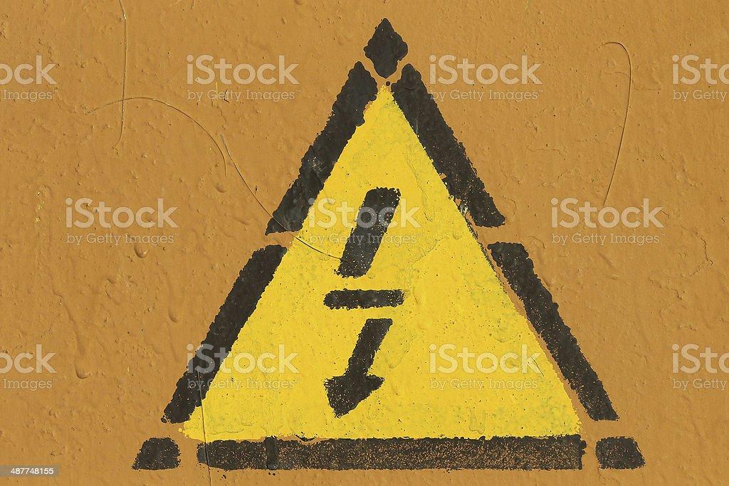 danger Lightning  sign royalty-free stock photo