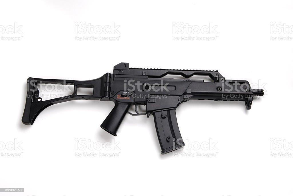 Danger, Machine Gun stock photo