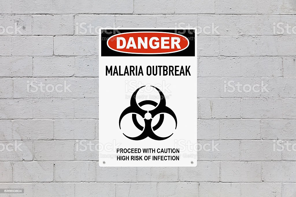 Danger - Malaria outbreak stock photo