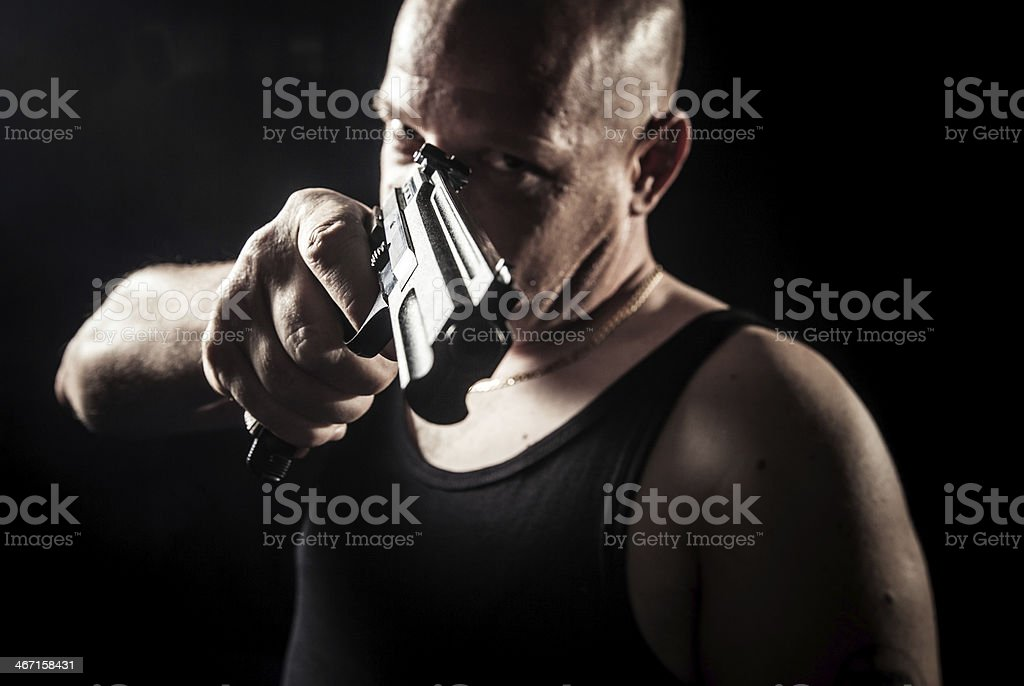 Danger man royalty-free stock photo