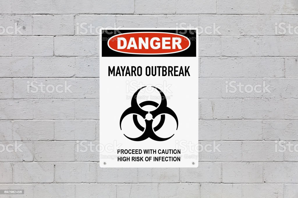 Danger - Mayaro outbreak stock photo