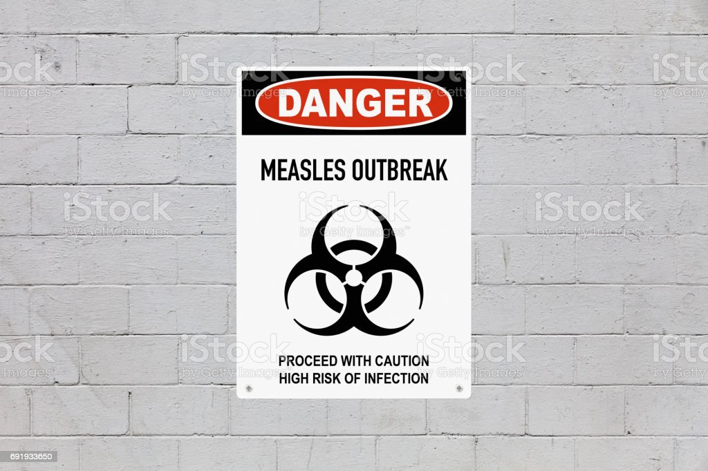 Danger - Measles outbreak stock photo
