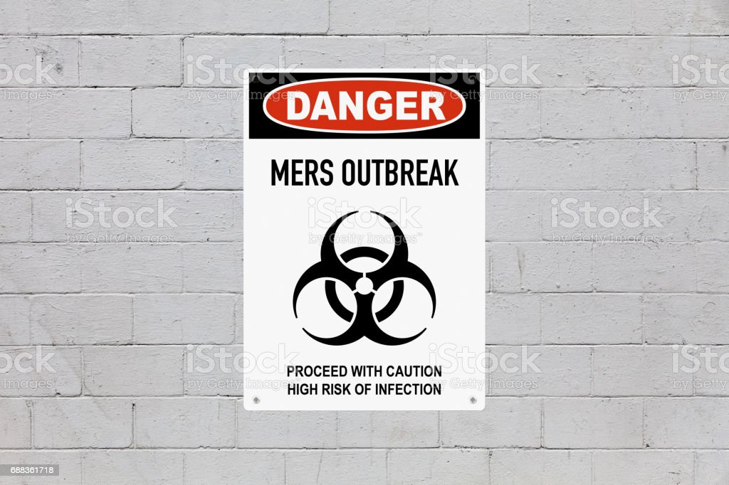 Danger - MERS outbreak stock photo