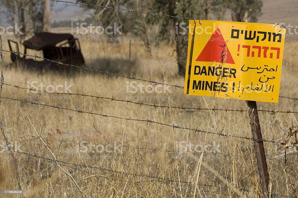 Danger mines! royalty-free stock photo
