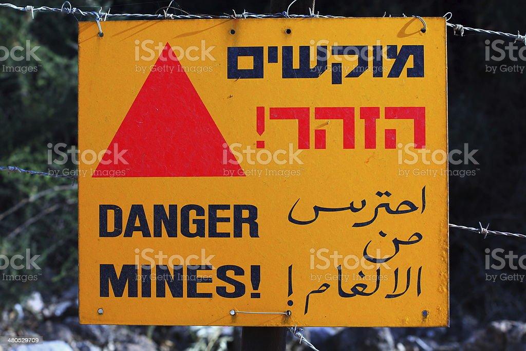 Danger mines stock photo