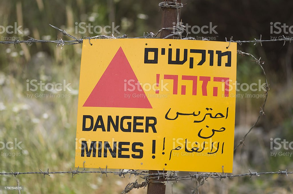 Danger Mines sign royalty-free stock photo