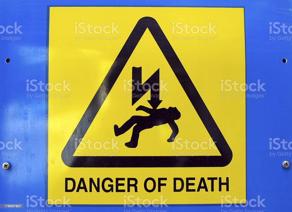 Danger of death Electric shock stock photo
