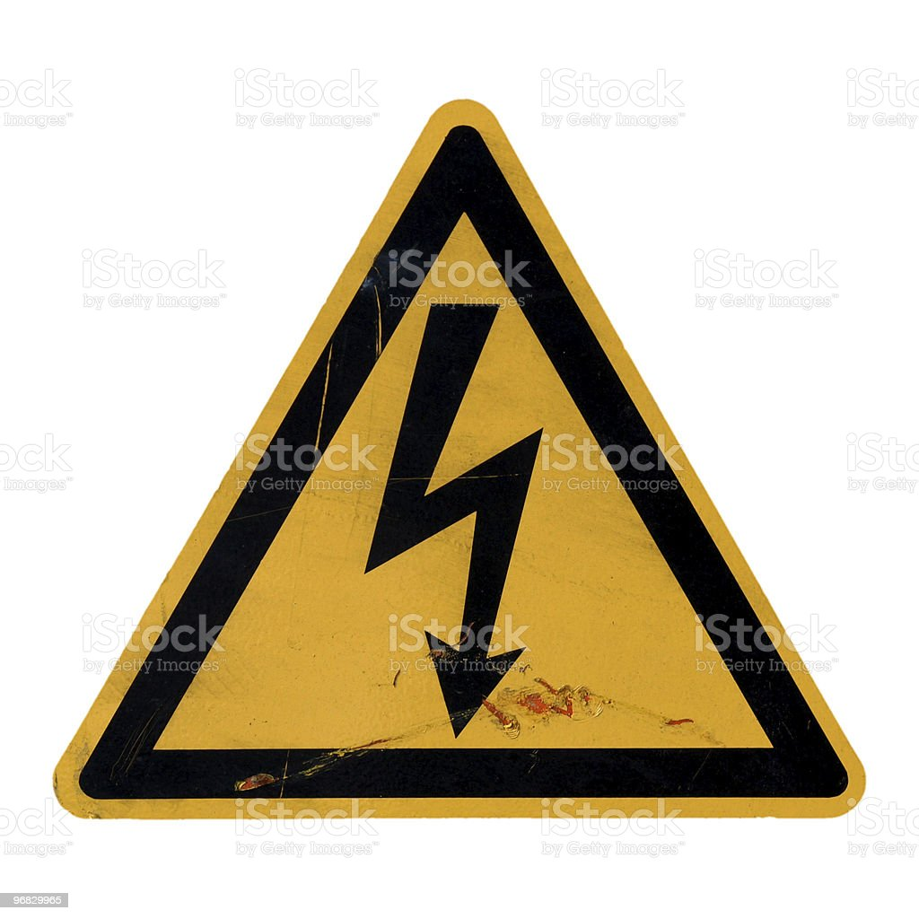 Danger of death Electric shock royalty-free stock photo