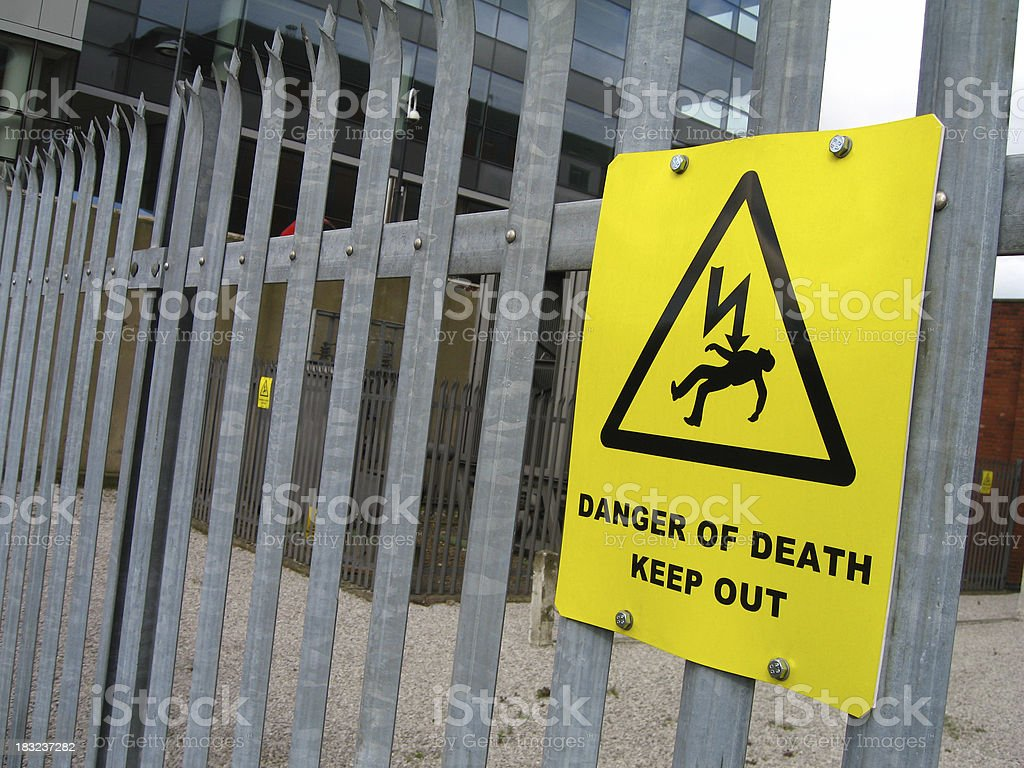 Danger of death keep out royalty-free stock photo