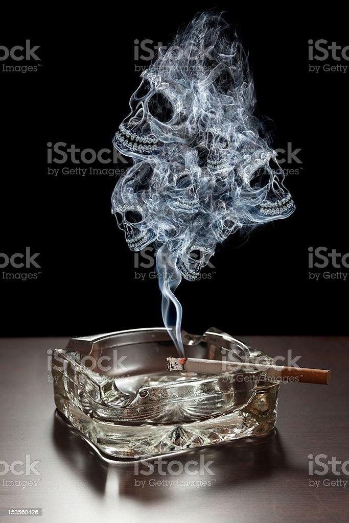 Danger of smoking royalty-free stock photo