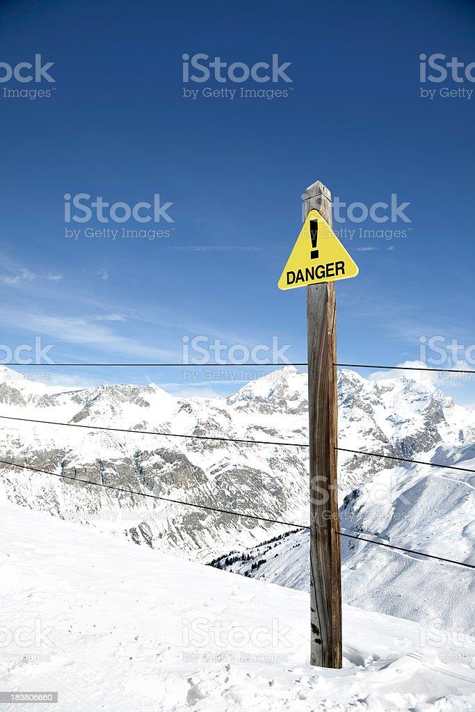 Danger Off-piste sign stock photo