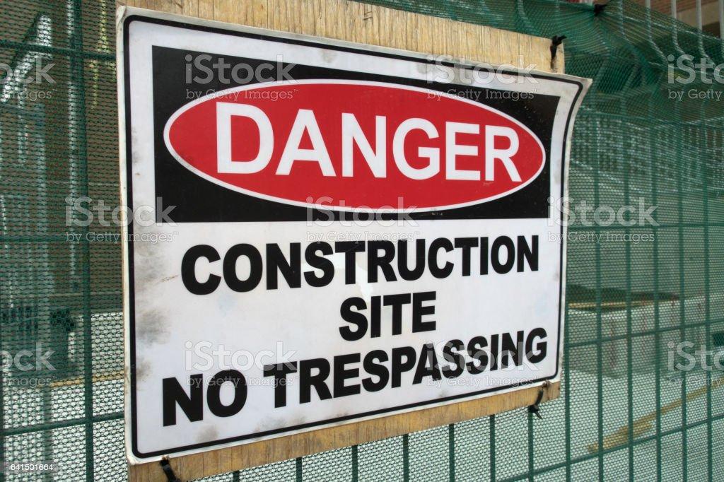 Danger on Construction Site stock photo