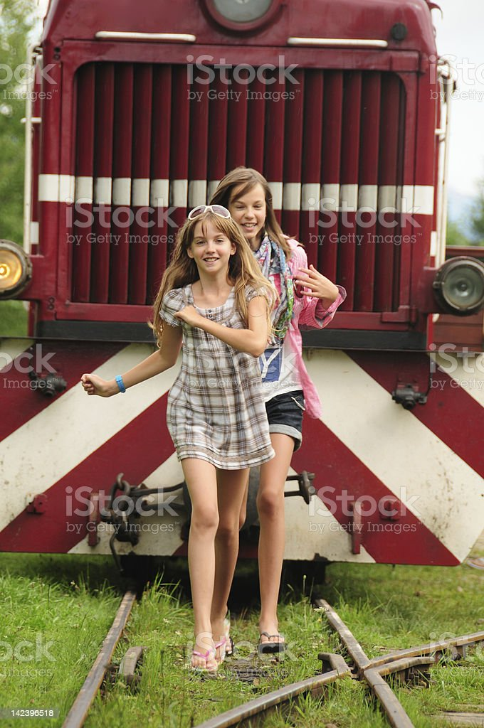 Danger on the Track royalty-free stock photo