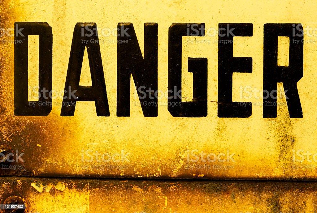 Danger royalty-free stock photo