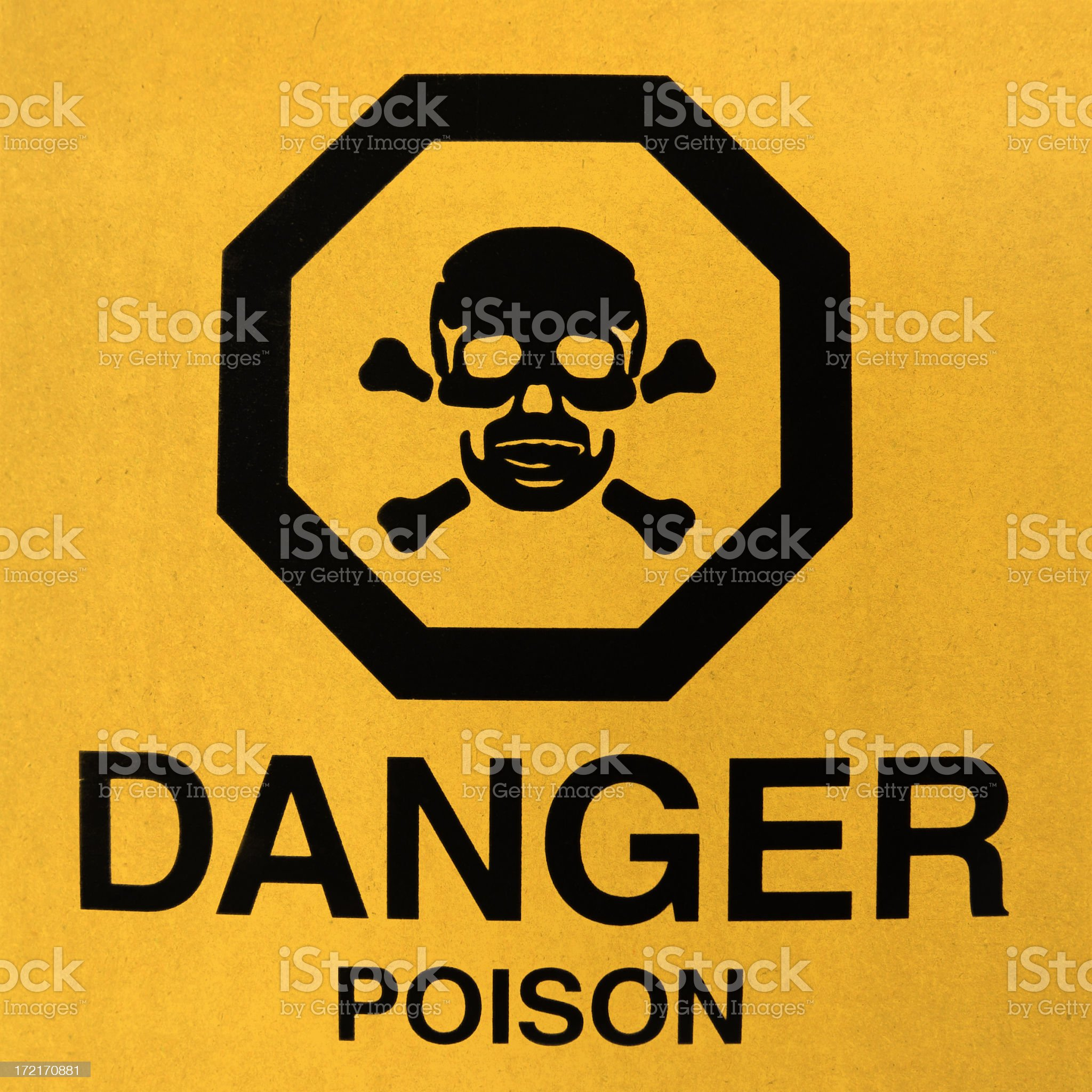 Danger ! Poison sign royalty-free stock photo