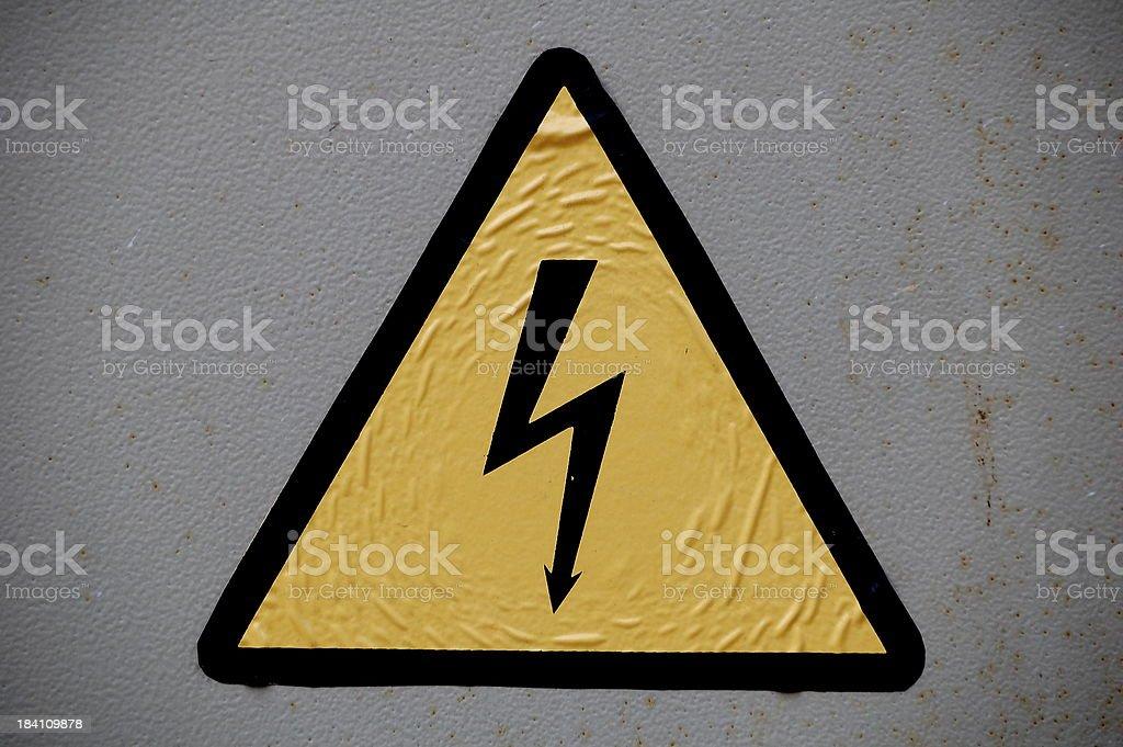 Danger!  Power! stock photo