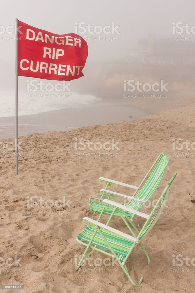 Danger rip current stock photo