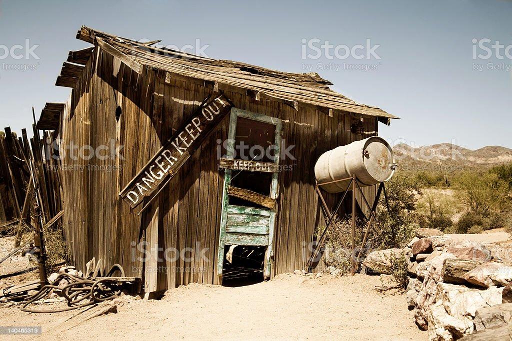 Danger Shack stock photo