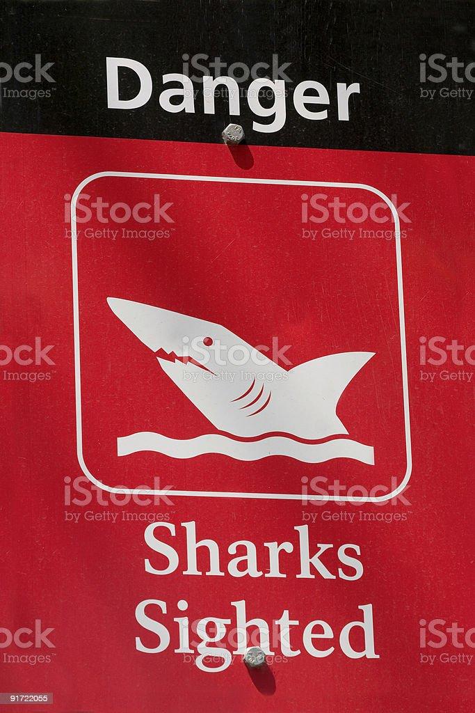 Danger Sharks Sighted stock photo