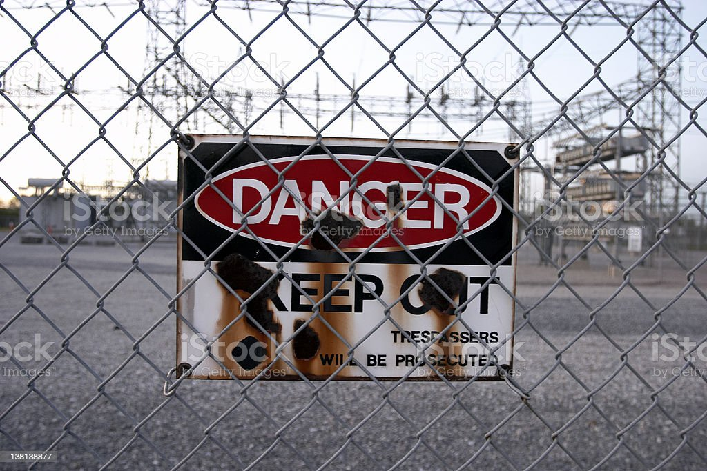 Danger Sign - Keep Out stock photo